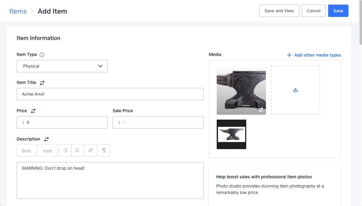 Скриншоты с инструкциями по настройке интернет-магазина Square