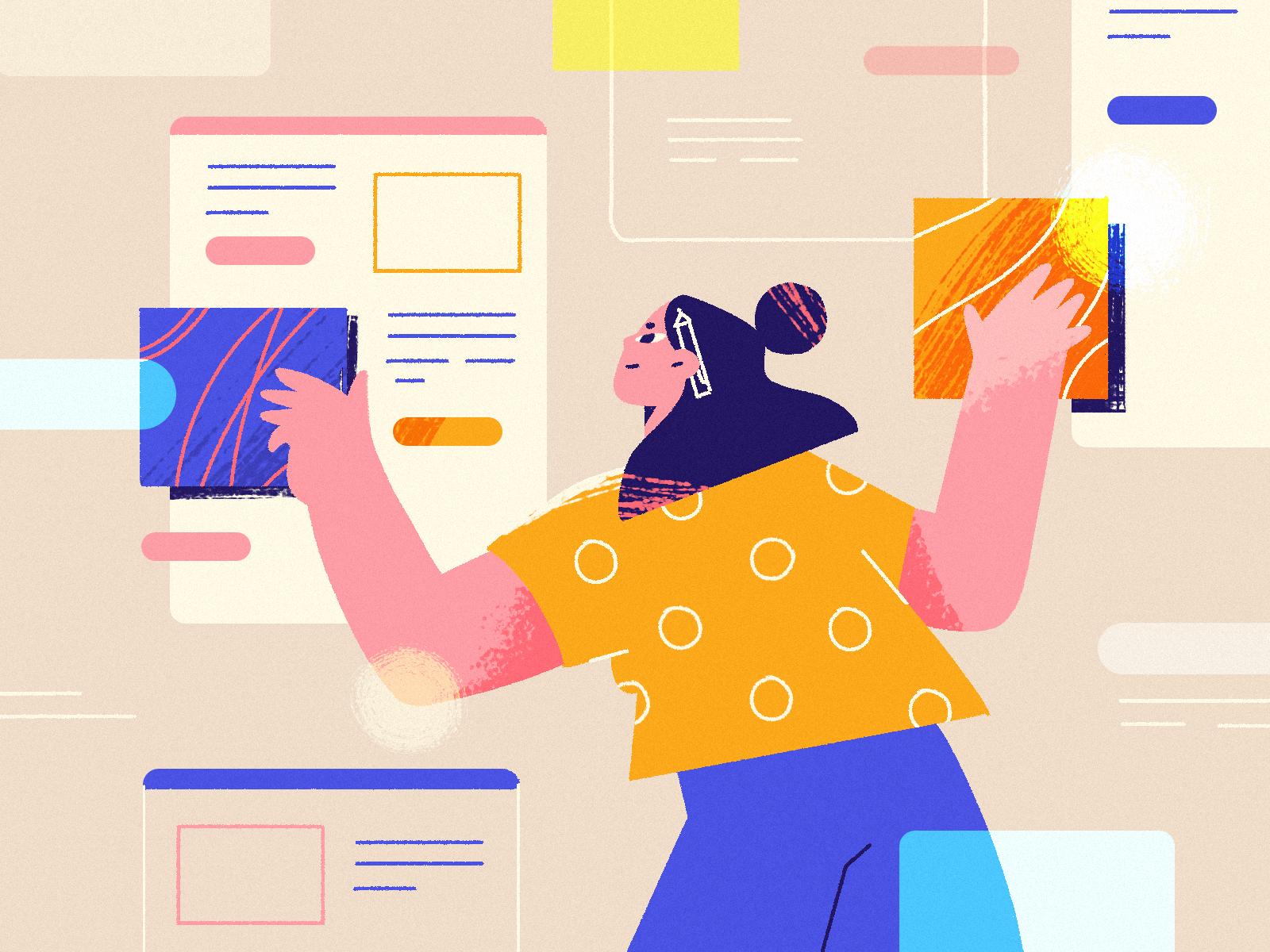 Иллюстрация в веб-дизайне Джулии Ханке