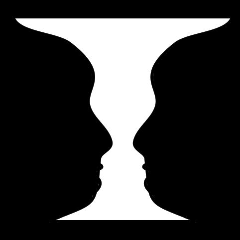 Черно-белое изображение Рубина Ваза