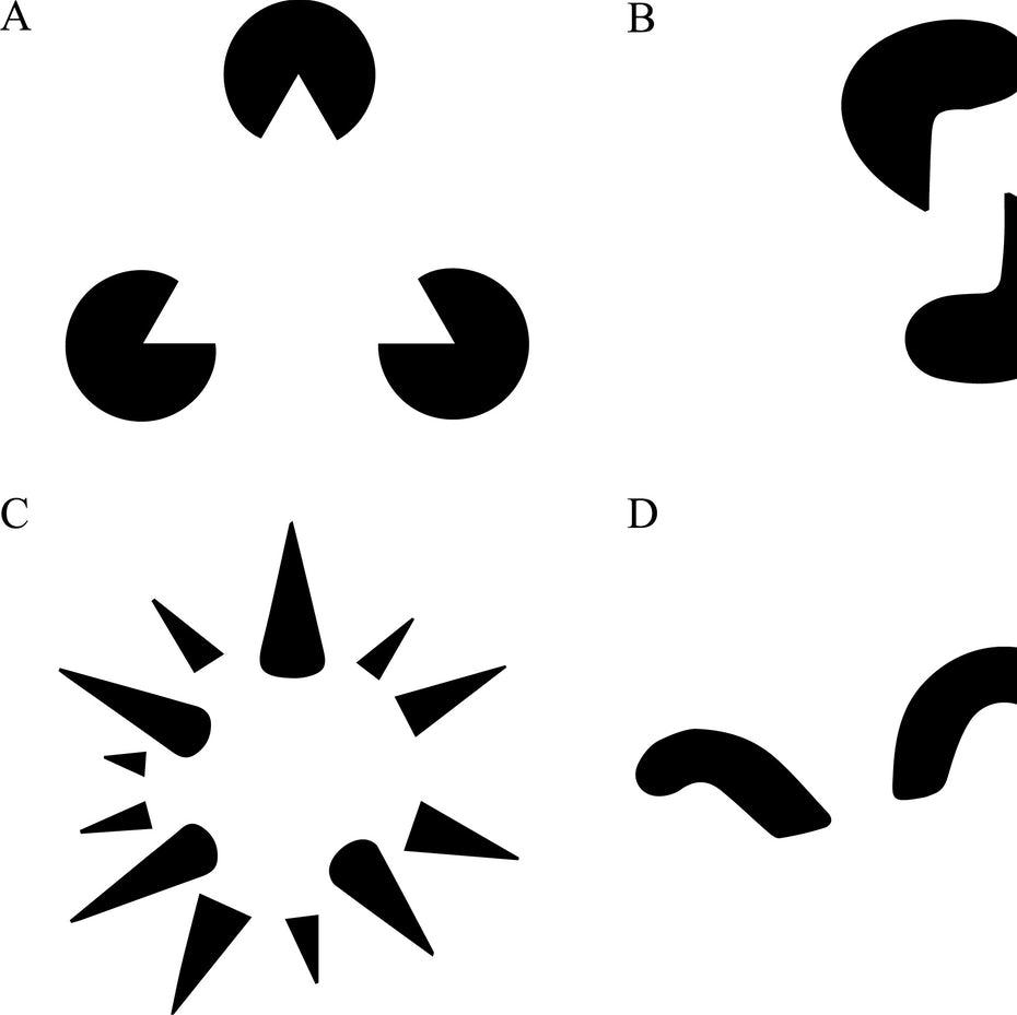 Черно-белые изображения негативного пространства