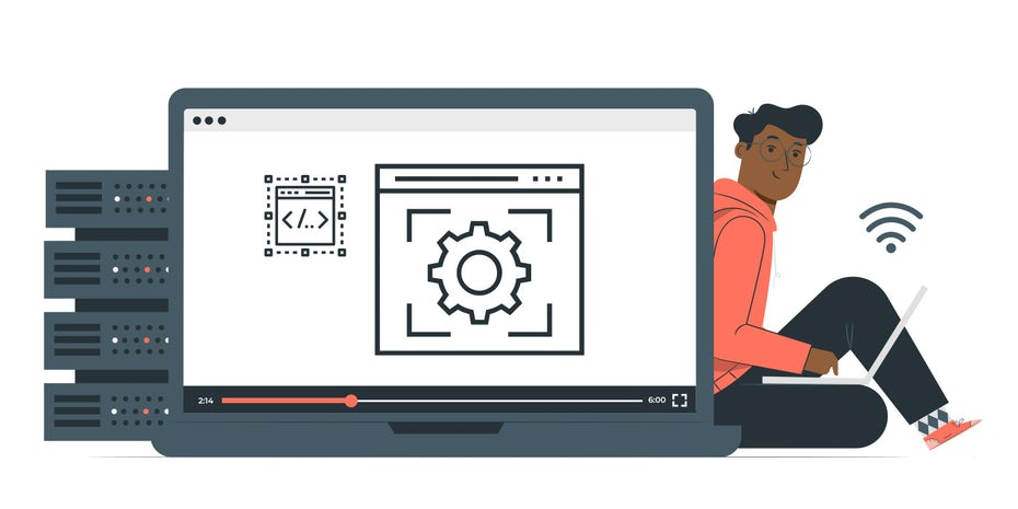 """Экран ноутбука со значками внутренних веб-сайтов """"width ="""" 1399 """"height ="""" 699 """"/>    <figcaption> Иллюстрация OrangeCrush </figcaption></figure> <h3><span id="""