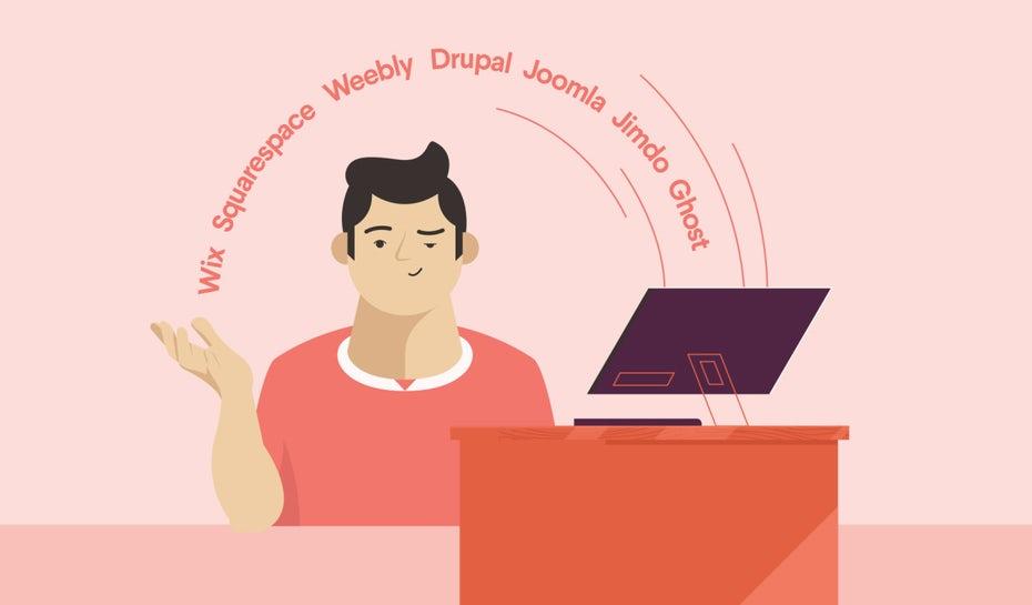 """Мужчина сидит за столом, а все альтернативные веб-сайты создают над ним арку """"width ="""" 1280 """"height ="""" 750 """"/>    <figcaption> Иллюстрация OrangeCrush </figcaption></figure> <div id="""