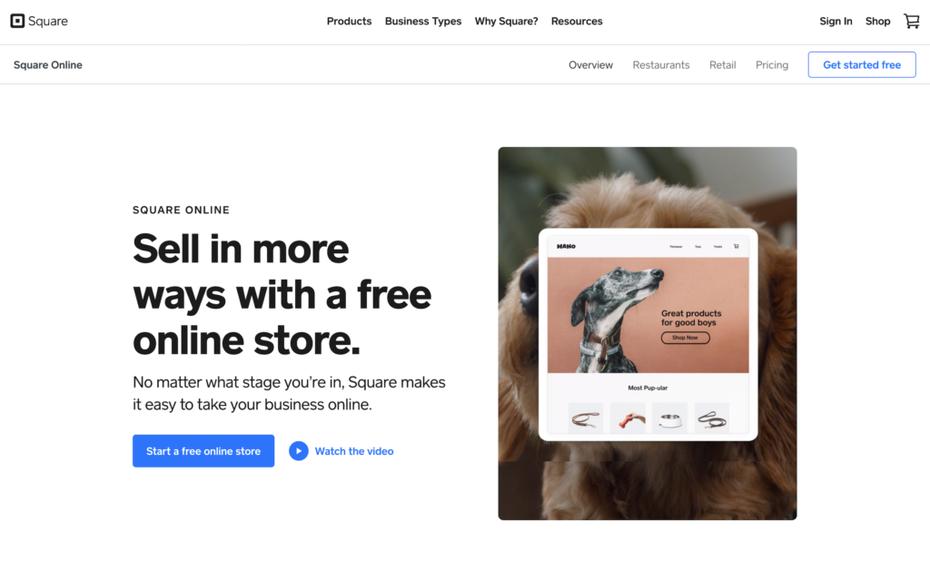 Скриншот с инструкциями по настройке интернет-магазина Square