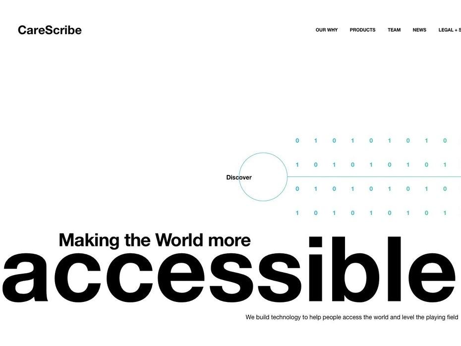 Текстовый веб-сайт компании, занимающейся тяжелыми технологиями
