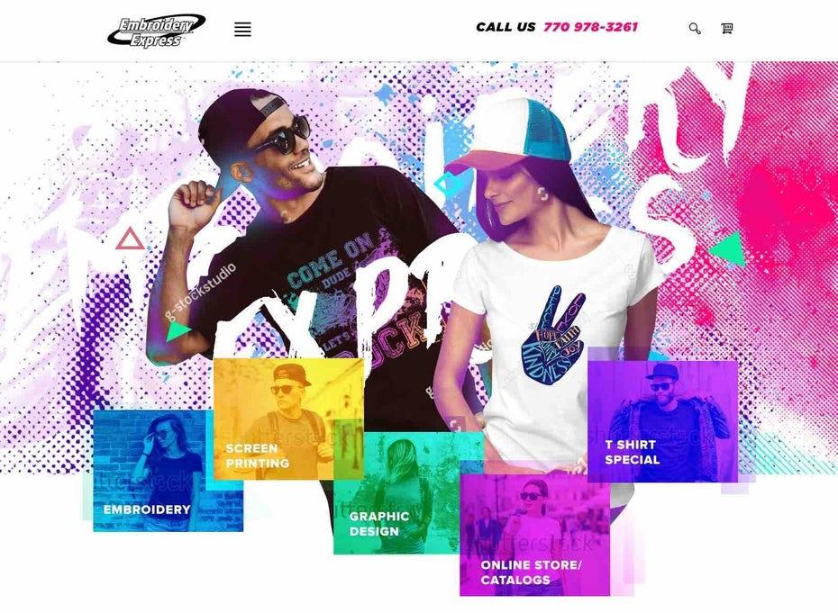 Веб-дизайн компании по производству одежды