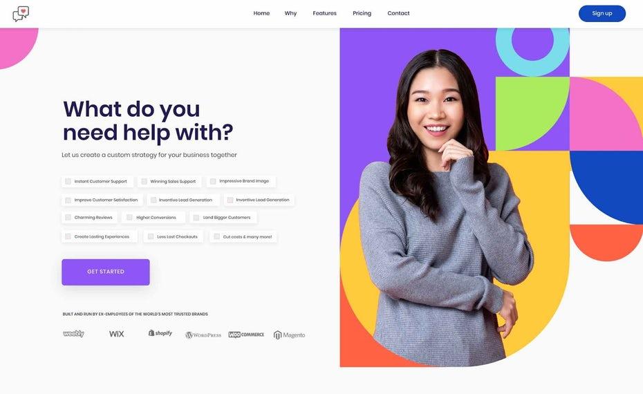 Красочный дизайн для стартапа