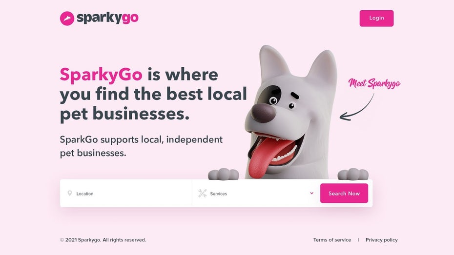 Целевая страница для бизнеса с домашними животными