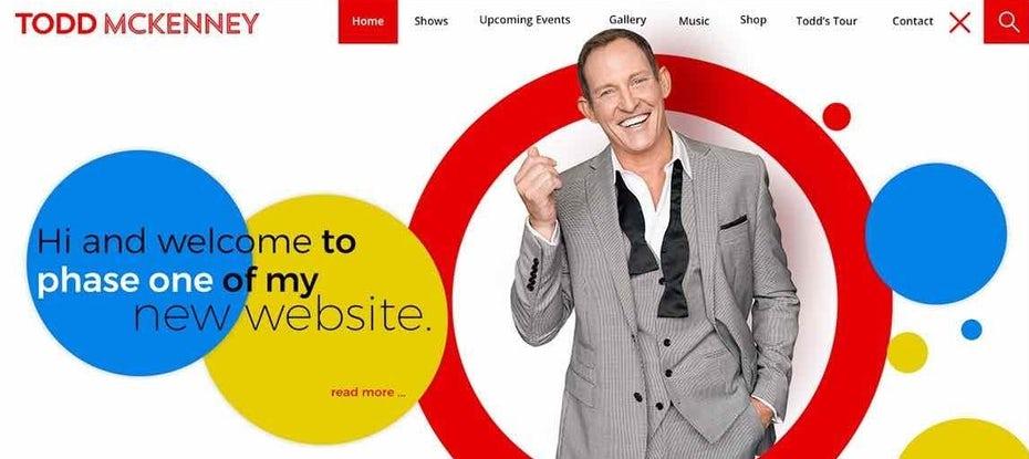 Абстрактный веб-дизайн актера