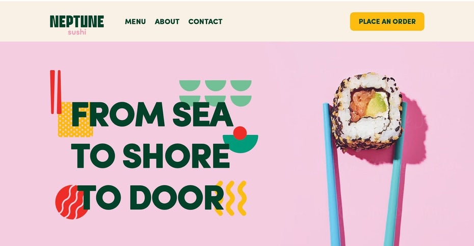 "Целевая страница суши-ресторана ""width ="" 1600 ""height ="" 832"