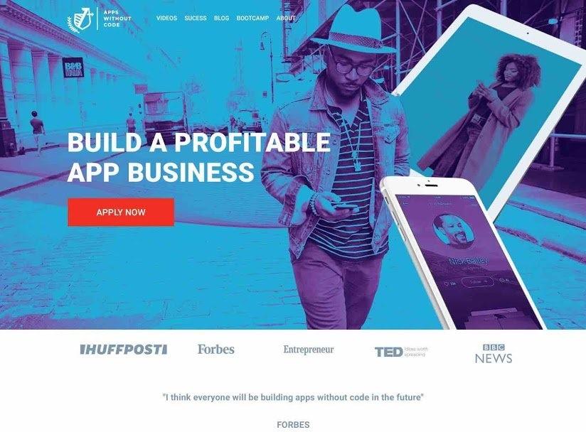Веб-сайт с синим дуплексом