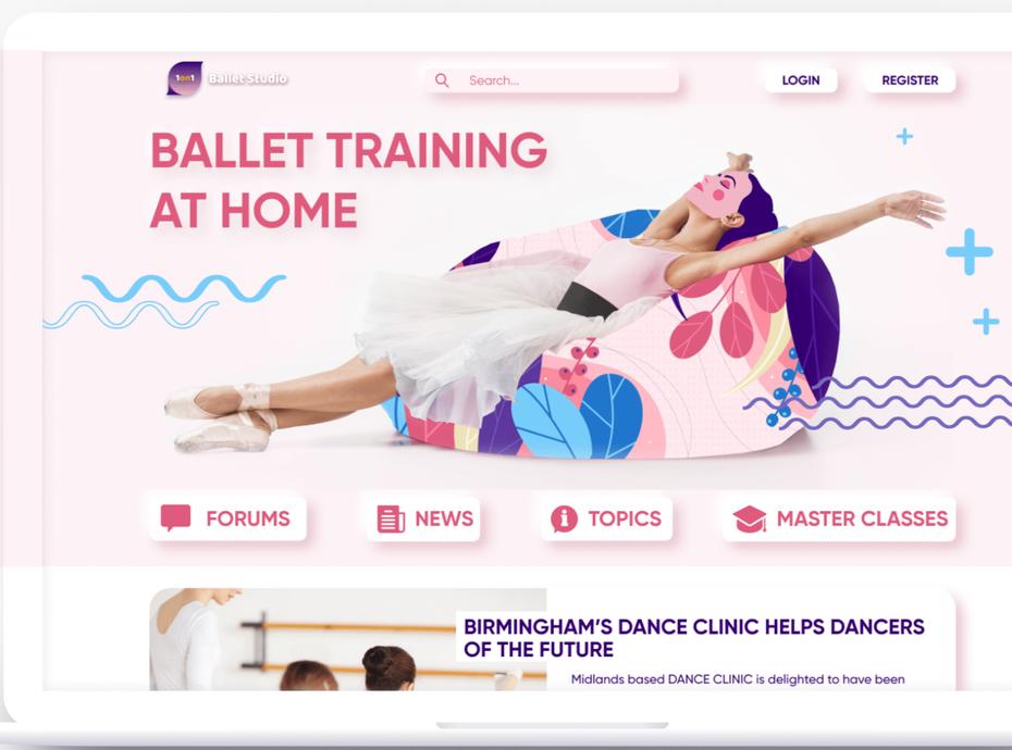 Сайт любителей балета по нейморфизму