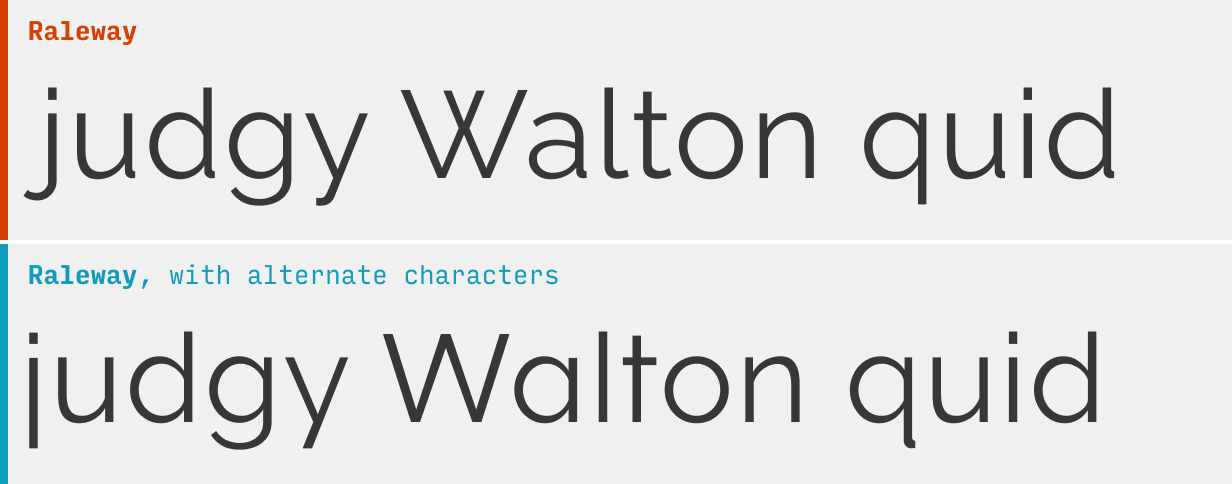 Альтернативные символы открытого типа в шрифте