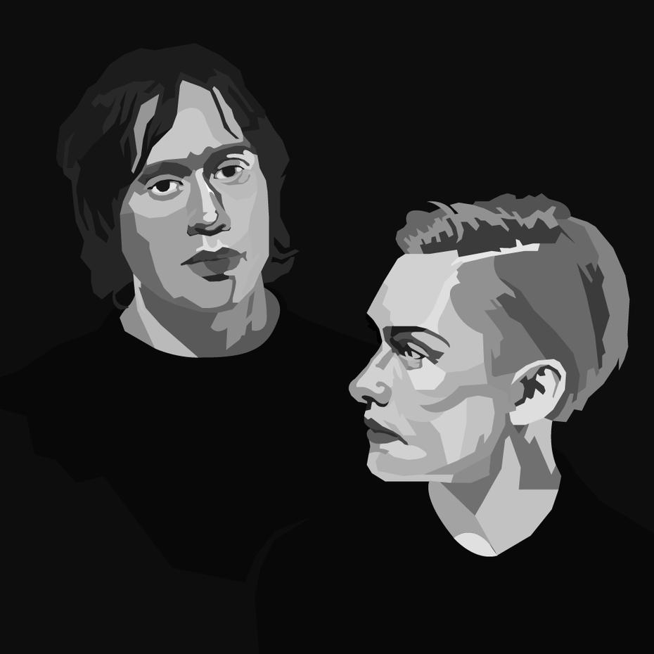"""Черно-белые цифровые портреты """"width ="""" 1000 """"height ="""" 1000"""