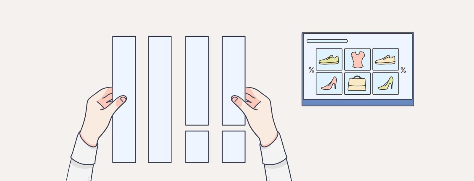 """Иллюстрация рук, организующих компоновку веб-дизайнов """"width ="""" 1600 """"height ="""" 612 """"/>    <figcaption> Ознакомьтесь с вашими проектами перед их загрузкой. Иллюстрация OrangeCrush </figcaption></figure> <p> Независимо от того, видны ли на вашей веб-странице линии ваших сеток и столбцов, они по-прежнему составляют основу базовой структуры вашего сайта и пропорций между элементами. Сетки помогают разделять веб-страницы по горизонтали и вертикали, а также таким образом диктуют согласование между различными элементами дизайна. </p> <p> Тем не менее, можно также комбинировать сеточный дизайн с более современными методами проектирования и исследования потребителей. Разнообразие способов, которыми потребители взаимодействуют с Интернетом, породило аналогичный диапазон ожиданий, когда дело доходит до того, как они ожидают, что разные типы веб-страниц будут выглядеть и восприниматься. </p> <figure data-id="""