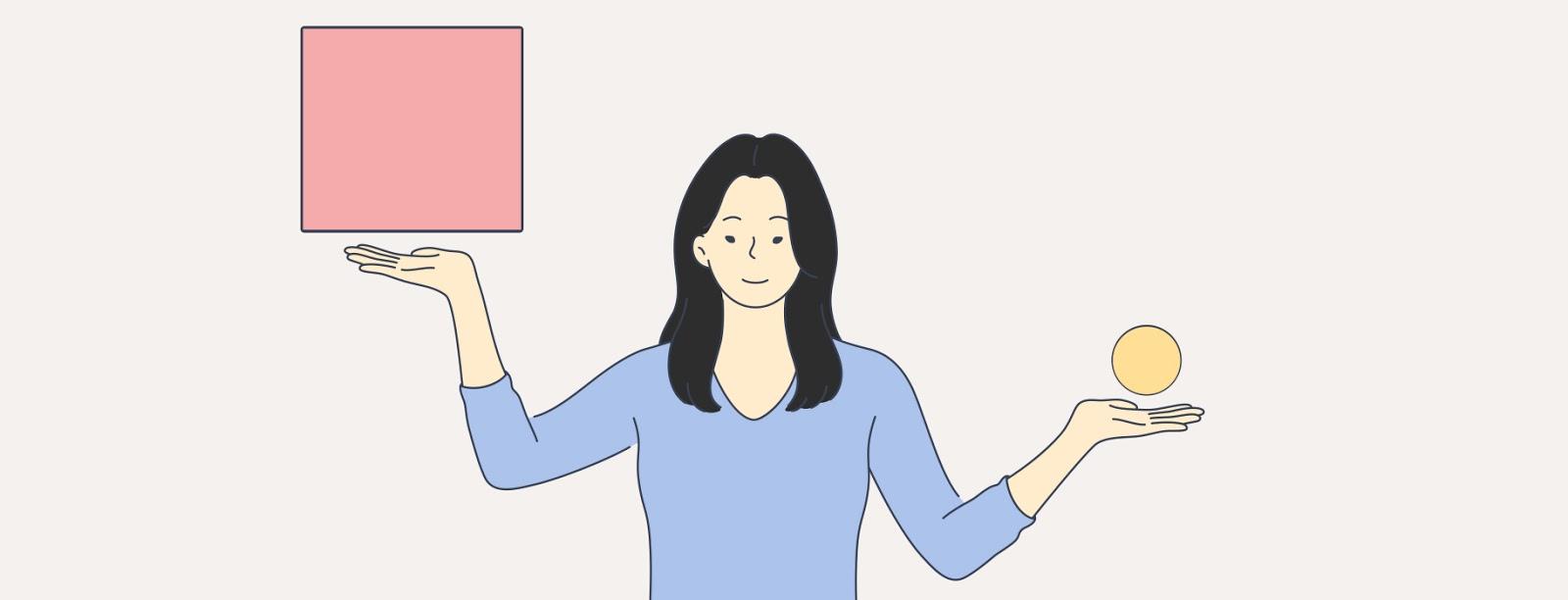 """Иллюстрация женщины, балансирующей в воздухе """"width ="""" 1600 """"height ="""" 612 """"/>    <figcaption> Размещение веб-дизайна часто кажется балансирующим действием. Иллюстрация OrangeCrush </figcaption></figure> <p> Хорошим примером этого являются сайты электронной торговли. Лучшие из них не допускают индивидуального брендинга в основном за пределы пользовательского опыта. Вместо этого они действуют как портал, через который клиенты могут узнавать и покупать адаптированные продукты. к ним. </p> <p> Обычно хорошо спроектированные сайты электронной коммерции напоминают пользователю, на каком сайте они находятся, только в одном (очень важном) пункте: сразу после того, как они завершат плавный, цельный и легкий процесс покупки определенного товара. </p> <figure data-id="""