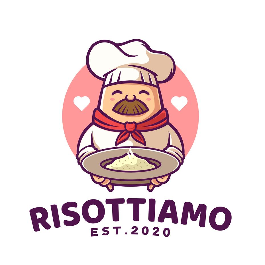 Дизайн логотипа мультяшного шеф-повара