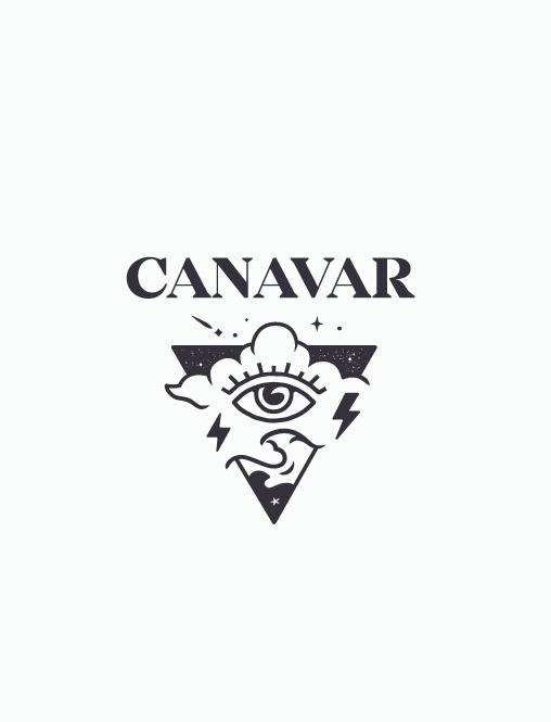 Треугольный дизайн логотипа для тату-бренда
