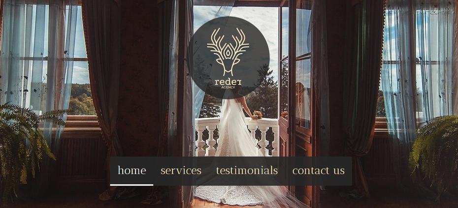 Веб-сайт свадебного агентства