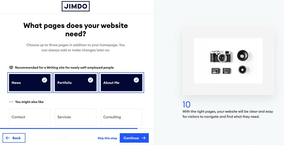"""снимок экрана «Какие страницы нужны вашему сайту?» page """"width ="""" 1321 """"height ="""" 676"""