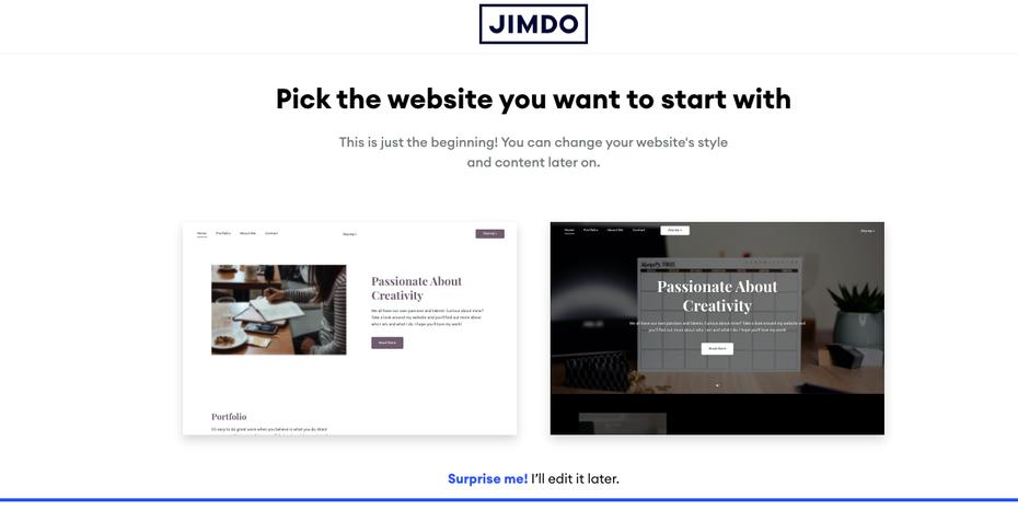 """снимок экрана Выберите веб-сайт, который вы хотите начать, со страницы """"width ="""" 1219 """"height ="""" 611"""