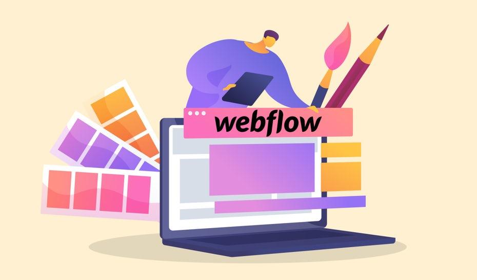 """ноутбук с различными блоками и символом над созданием веб-сайта """"width ="""" 1280 """"height ="""" 750"""