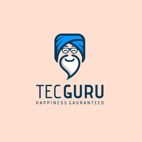 Дизайн логотипа мультипликационного гуру