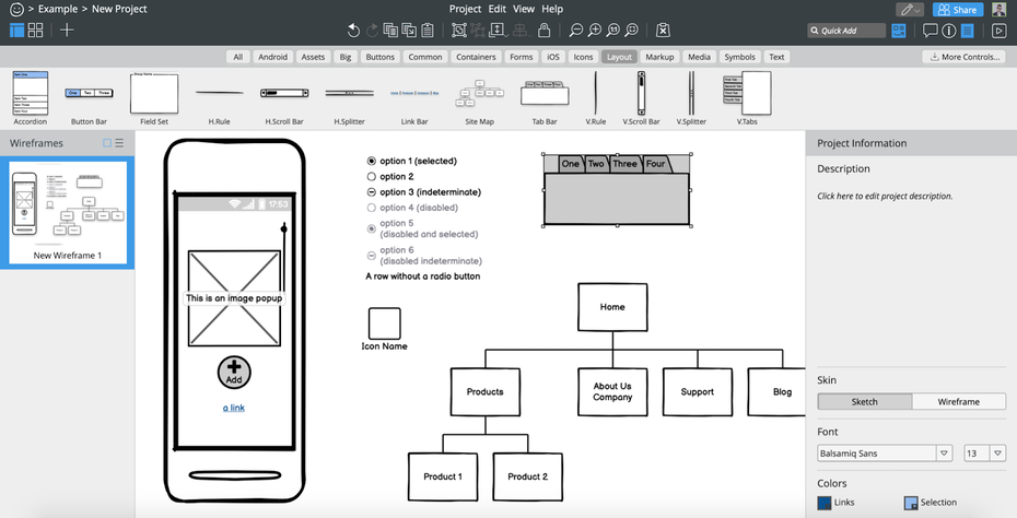 """Каркасный пользовательский интерфейс Balsamiq """"width ="""" 1600 """"height ="""" 815 """"/>    <figcaption> Пример каркасного пользовательского интерфейса Balsamiq. Изображение через Balsamiq. </figcaption></figure> <p> Balsamiq — это специальный инструмент для создания каркасов для веб-сайтов и приложений. Он обеспечивает каркасное моделирование с низкой точностью, схожее с рисованием на бумаге. Этот инструмент разработан таким образом, что вы можете не зацикливаться на деталях на этом этапе и сосредоточиться на структуре и содержании. </p> <p> Замечательной особенностью является то, что вы можете создавать элементы, похожие на эскизы, которые впоследствии можно будет переключить на презентабельные компоненты. Это удобная функция, позволяющая удерживать рамки в точном соответствии без излишних деталей и делать презентацию чистой и цельной после того, как вы закончите. </p> <p> Balsamiq поставляется с тремя вариантами; интегрированное приложение Google Drive, облачное приложение или собственное настольное приложение. Таким образом, он гибок, чтобы обслуживать текущие процессы проектирования и совместную работу. Этот инструмент дизайна пользовательского интерфейса подходит как для новичков, так и для корпораций и может обслуживать несколько аудиторий. </p> <p> <strong> Лучшая функция </strong>: переключение между эскизом и презентацией </p> <p> <strong> Стоимость </strong>: от 9 долларов в месяц с 30-дневной бесплатной пробной версией </p> <p> <strong> Уровень квалификации </strong>: новичок </p> <p> <strong> Плюсы </strong>: </p> <ul> <li aria-level="""