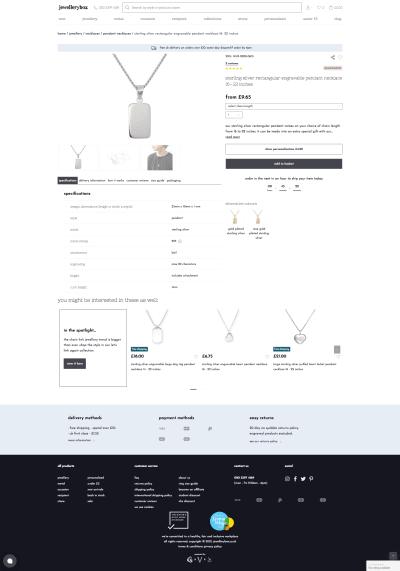 Версия страницы с описанием продукта со всем: выберите размер, добавьте на него гравировку, возможно, измените цвет.