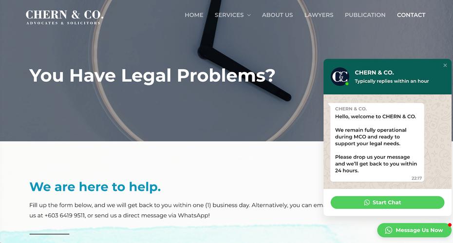 """Малазийская юридическая компания с чат-ботом WhatsApp """"width ="""" 1600 """"height ="""" 859"""