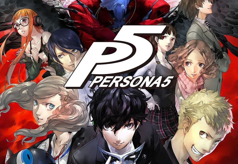 Логотип и обложка Persona 5
