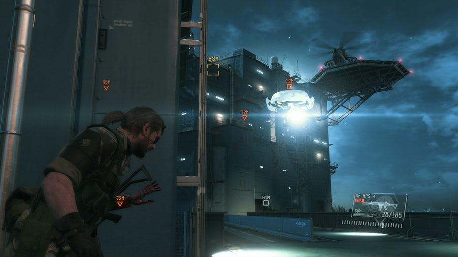 Снимок экрана игрового процесса Metal Gear Solid 5