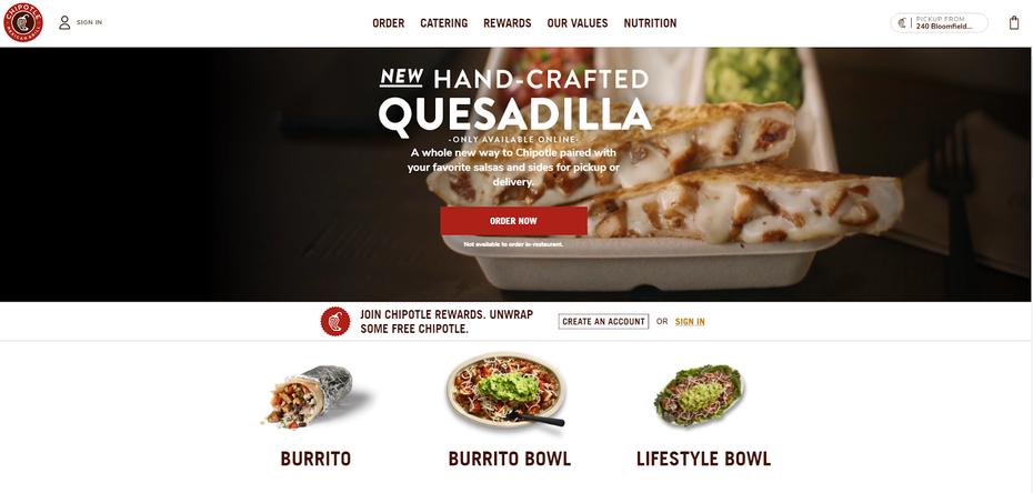 """Скриншот веб-сайта Chipotle """"width ="""" 1592 """"height ="""" 760 """"/>    <figcaption> Через www.chipotle.com </figcaption></figure> <p> Онлайн-заказ — это лишь одна из функций, которые отделите веб-сайты ресторанов от сайтов других компаний. Общие функции веб-сайтов ресторанов включают: </p> <ul> <li aria-level="""
