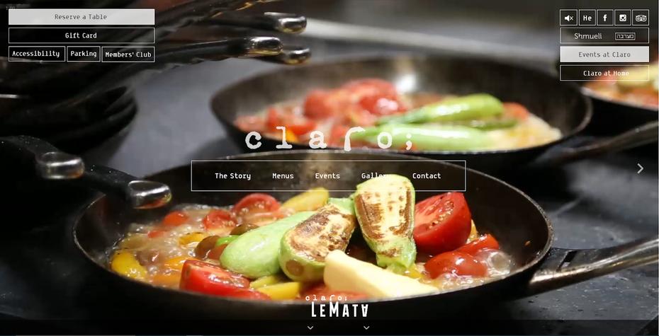 """снимок экрана с веб-сайтом Claro """"width ="""" 1600 """"height ="""" 818 """"/>    <figcaption> Через Clarotlv.com </figcaption></figure> <p> Переход на этот веб-сайт похож на просмотр фильма. увидеть все: крупные планы вкусных блюд, закулисные кадры команды, усердно работающей на кухне, откровенные снимки смеющихся и веселых посетителей, а также сцены действий барменов, встряхивающих коктейли по индивидуальному заказу. холодный белый текст с разными наборами информации в разных частях экрана. </p> <p> На каждой странице есть полный фон с фотографиями, а страница галереи — это фотопленка восхитительного качества. На всем сайте Claro; дает посетителям почувствовать внешний вид ресторана, передавая атмосферу, которую они могут ожидать, когда они посещают, а также еда. </p> <h3><span id="""