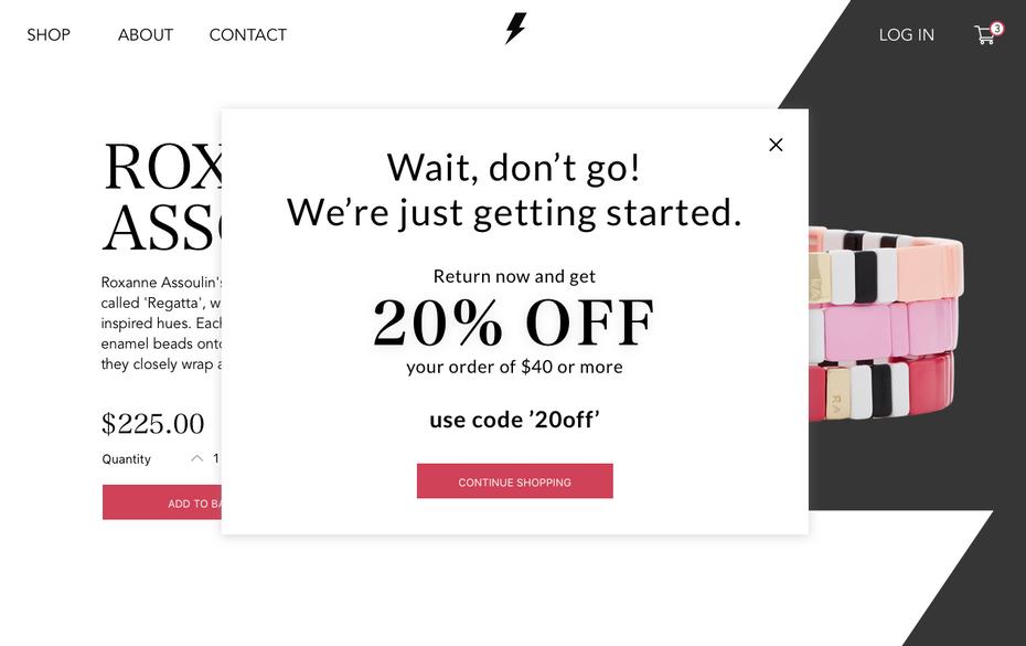 """Всплывающее окно для веб-сайта покупок """"width ="""" 1260 """"height ="""" 792 """"/>    <figcaption> Благодаря соответствию брендингу всплывающее окно становится меньше похоже на прерывание и больше похоже на часть сайта . Дизайн Alex Burnstein через Dribbble. </figcaption></figure> <figure data-id="""