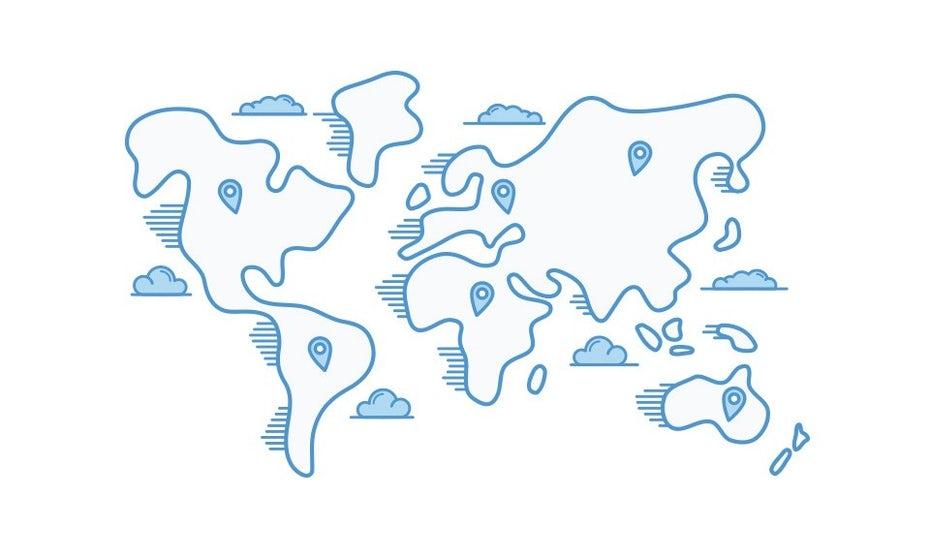 """синяя иллюстрированная карта мира с маркерами в разных городах """"width ="""" 960 """"height ="""" 577 """"/>    <figcaption> Иллюстрация Cope_HMC </figcaption></figure> <h4><span id="""