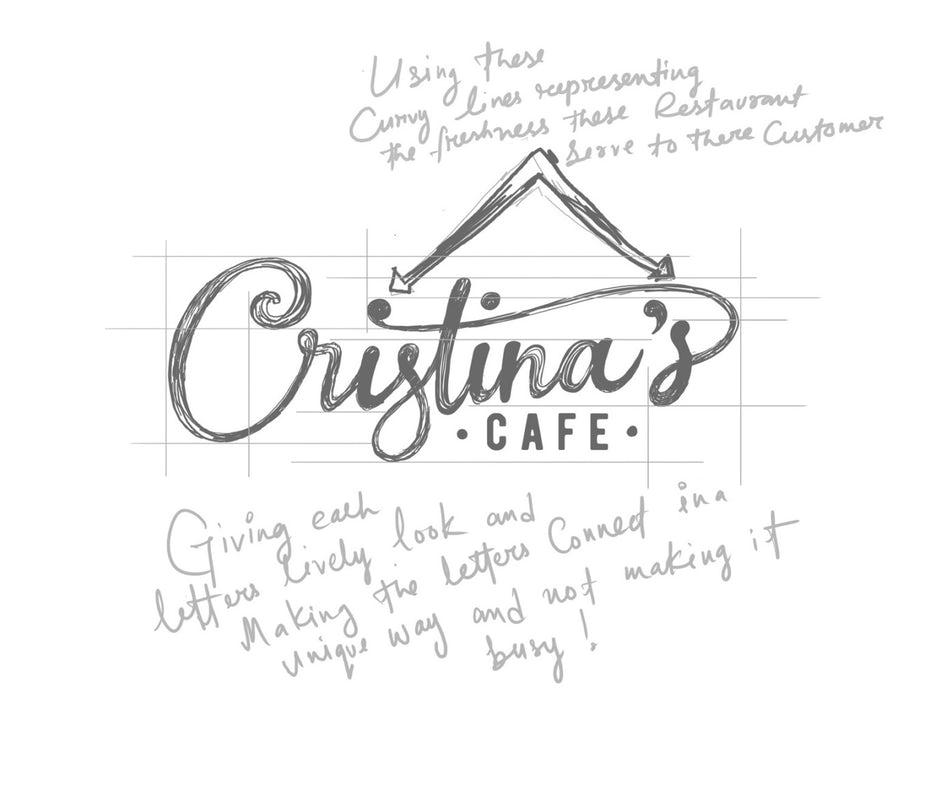 Дизайн логотипа с надписью от руки