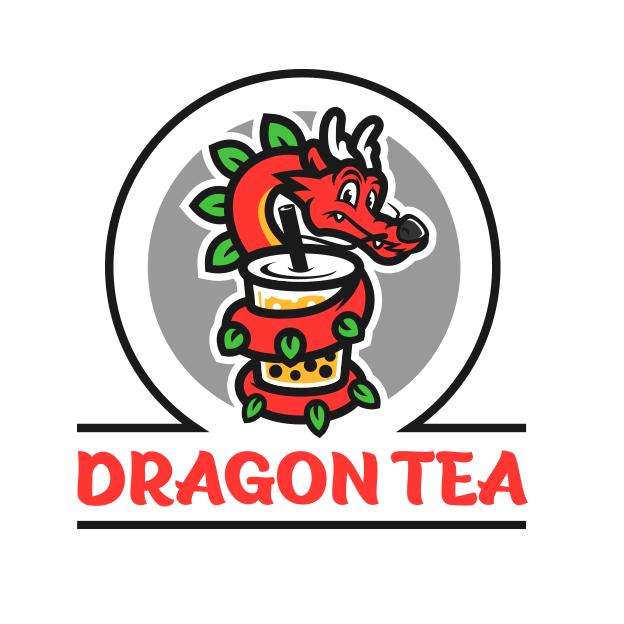 Дизайн логотипа для бренда пузырькового чая