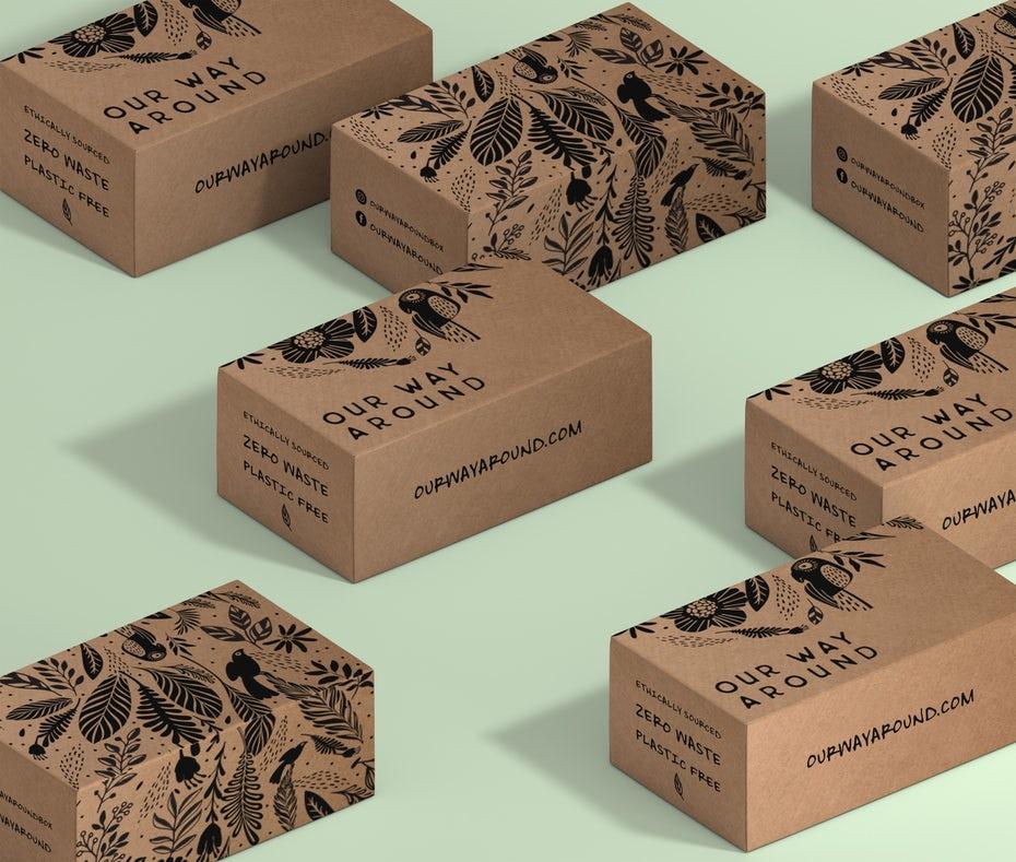 """картонные коробки с черным текстом """"width ="""" 2560 """"height ="""" 2172"""