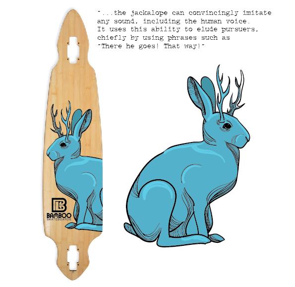 "дека для скейтборда с синим шакалопом ""width ="" 595 ""height ="" 578 "