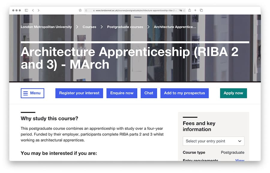 Architect Degree Apprenticeship