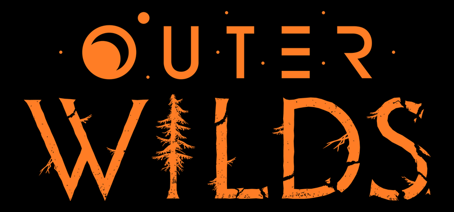 "Дизайн логотипа Outer Wilds ""width ="" 1390 ""height ="" 649"