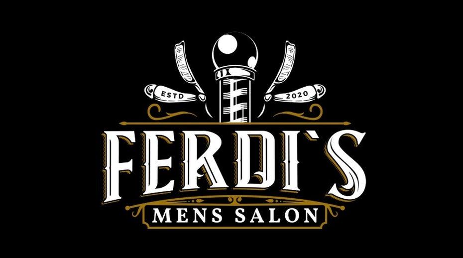 логотип парикмахерской в темном режиме