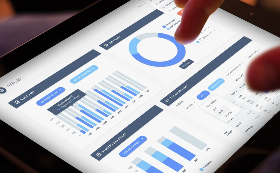 """отчеты аналитики веб-сайтов на планшете """"width ="""" 1600 """"height ="""" 992 """"/>    <figcaption> Такие функции, как аналитика, помогут вам понять и улучшить свой бизнес электронной торговли Адриан Хуфса </figcaption></figure> <h2><span id="""