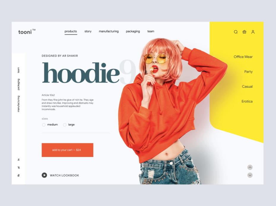 """Дизайн страницы продукта для модного бренда """"width ="""" 947 """"height ="""" 707 """"/>    <figcaption> Дизайн AR Shakir через Dribbble </figcaption></figure> <p> В то же время, позволяя индивидуальность бренда, просвечивающая на странице продукта, также может привести к творческой свободе — изображенный здесь дизайн «толстовки с капюшоном» дает четкое представление об отношении бренда. Но также никогда не поздно подумать о полном редизайне сайта, если это поможет оптимизировать страница продукта. </p> <p> Точно так же страница оформления заказа часто представляет собой чрезвычайно упрощенную версию страницы продукта, на которой отображается изображение ключевого продукта в миниатюре, цена и количество с возможностью внесения изменений. </p> <p> Учитывая, что почти 70% тележек для покупок заброшены, время оформления заказа — идеальная возможность продемонстрировать преимущества, перечисленные на странице продукта, такие как время доставки и низкие комиссии. Наложение страницы оформления заказа на верхнюю часть страницы продукта также упростит для пользователя нажатие кнопки возврата, чтобы вернуться, вместо того, чтобы потенциально покинуть веб-сайт. </p> <h3><span id="""