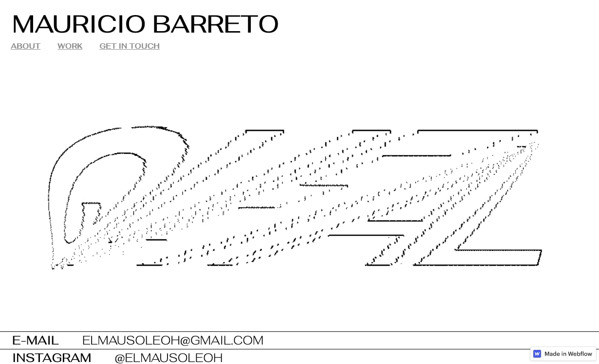 Изображение веб-сайта Маурисио Баррето.
