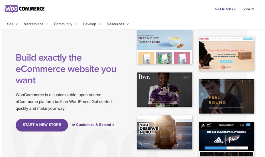 Скриншот альтернатив Shopify: WooCommerce