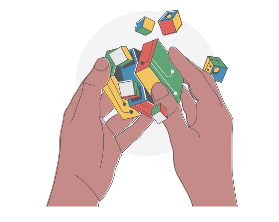 """Концептуальная иллюстрация куба рубикса, разрушающего часть """"width ="""" 1005 """"height ="""" 800 """"/>    <figcaption> Сначала вы должны разгадать проблему. Концептуальный дизайн Fe Melo </figcaption></figure> <h3> 1. Определение </h3> <p> Вы должны начать свой дизайн-проект с вопроса, зачем он нужен. Какова конкретная цель проекта и какую проблему он призван решить? </p> <p> Определение проблемы может быть намного сложнее, чем кажется на первый взгляд, потому что проблемы могут быть сложными. Часто проблема может быть симптомом более глубоких проблем, и вам нужно выйти за пределы поверхности, чтобы раскрыть первопричины. </p> <p> Один из способов сделать это известен как Пять Почему, когда вы сталкиваетесь с проблемой и продолжаете спрашивать «Почему?» пока вы не придете к более тонкому пониманию. В противном случае, если вам не удастся найти точный корень проблемы, ваше дизайнерское решение будет в конечном итоге ошибочным. А дизайнерское решение — ответ на проблему — это просто еще один способ описания концепции. </p> <h3> 2. Исследования </h3> <p> Дизайн в конечном итоге должен занимать место (физическое или цифровое) в реальном мире. По этой причине концепция дизайна должна быть основана на исследовании, в котором вы поймете контекст, в который должен вписаться дизайн. </p> <figure data-id="""