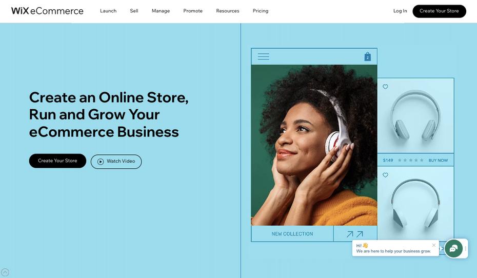 Скриншот альтернатив Shopify: Wix