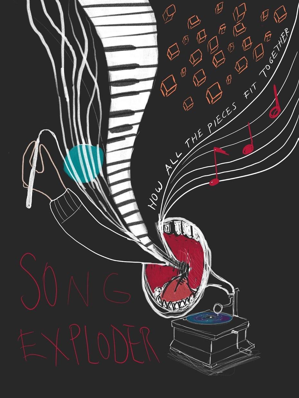 Первоначальные концепции плаката Song Exploder от Джен Се