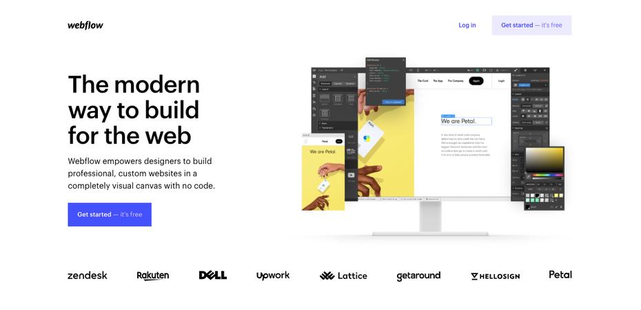 "Снимок экрана домашней страницы Webflow ""width ="" 1303 ""height ="" 630"